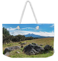 Weekender Tote Bag featuring the photograph Mt Ruapehu View by Gary Eason