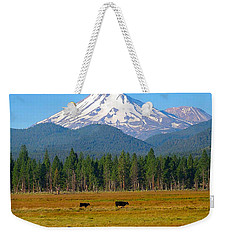 Mt. Shasta Morning Weekender Tote Bag by Betty Buller Whitehead