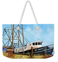 Mt. Sinai Fishing Boat Weekender Tote Bag