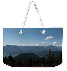 Mt St Benedict Pano Weekender Tote Bag by Rod Wiens