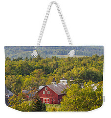 Mt View Farm In Summer Weekender Tote Bag