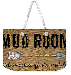 Weekender Tote Bag featuring the digital art Mud Room-a by Jean Plout