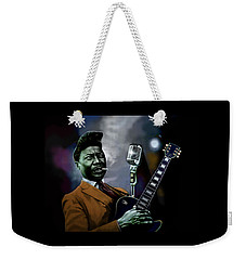 Weekender Tote Bag featuring the mixed media Muddy Waters - Mick Jagger's Grandfather by Dan Haraga