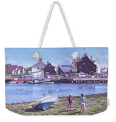 Mudeford Quay Christchurch From Hengistbury Head Weekender Tote Bag by Martin Davey
