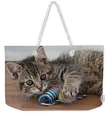 Weekender Tote Bag featuring the photograph Muffin by Doris Potter