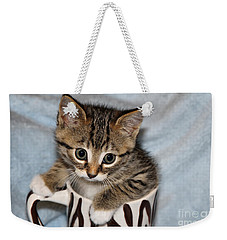 Mug Kitten Weekender Tote Bag by Teresa Zieba
