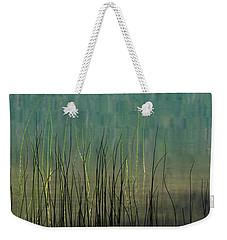 Weekender Tote Bag featuring the photograph Mug - Lake Grass by Inge Riis McDonald