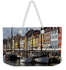 Weekender Tote Bag featuring the photograph Mug - Nyhavn by Inge Riis McDonald