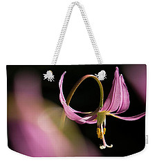 Weekender Tote Bag featuring the photograph Mug - Pink Fawn Lily by Inge Riis McDonald