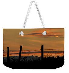 Weekender Tote Bag featuring the photograph Mug - Prairie Sunset by Inge Riis McDonald
