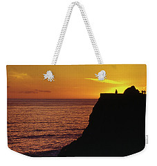 Weekender Tote Bag featuring the photograph Mugu Rock Sunset by Samuel M Purvis III