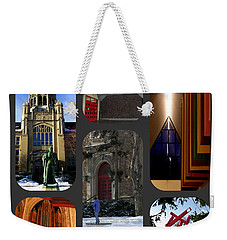 Weekender Tote Bag featuring the photograph Muhlenberg Composite - Campus by Jacqueline M Lewis