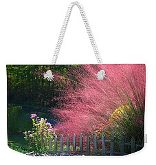 Weekender Tote Bag featuring the photograph Muhly Grass by Kathryn Meyer