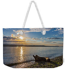 Mukilteo Beach Weekender Tote Bag by Ed Clark
