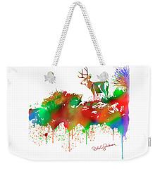 Mule Deer Buck Skyline Drip Pop Art II Weekender Tote Bag