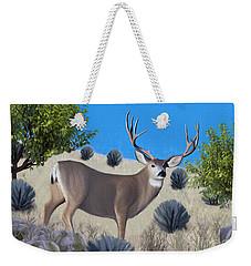 Mule Deer Trophy Buck Weekender Tote Bag by Walter Colvin