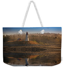 Weekender Tote Bag featuring the photograph Mulholland Point Lighthouse by Rick Berk