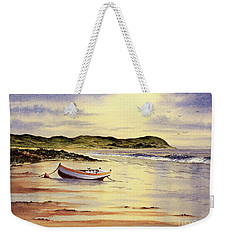 Weekender Tote Bag featuring the painting Mull Of Kintyre Scotland by Bill Holkham