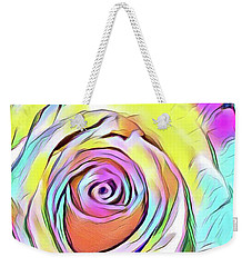 Multi-colored Rose Weekender Tote Bag