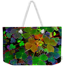 Multi-coloured Leaves Weekender Tote Bag