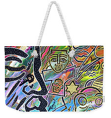 Multi-dimensional Beings Stepping Out The Body Walking Through The Cosmos Weekender Tote Bag