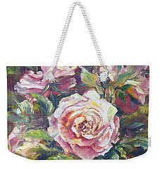 Multi-hue And Petal Rose. Weekender Tote Bag