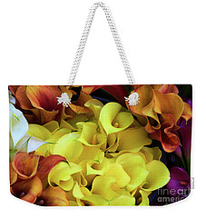 Multicolored Calla Lillies Weekender Tote Bag
