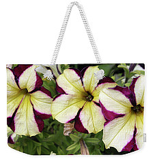 Multicolored Petunias Weekender Tote Bag by Ellen Tully