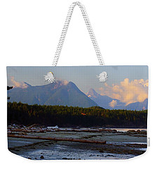 Multileval Photography In One Land Water Trees Mountain Clouds Skyview Olympic National Park America Weekender Tote Bag