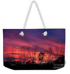 Multiple Colors Sunset Weekender Tote Bag by Yumi Johnson