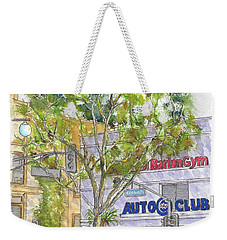 Multiplication Sign Across The Triple A Building In Century City, California Weekender Tote Bag