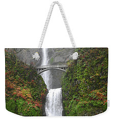Multnomah Falls -autumn Mist Weekender Tote Bag