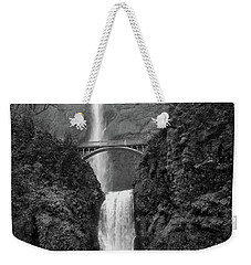 Multnomah Falls - Black And White Weekender Tote Bag