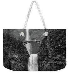 Multnomah Falls - Black And White Weekender Tote Bag by Scott Cameron