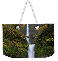 Multnomah Falls In Autumn Weekender Tote Bag
