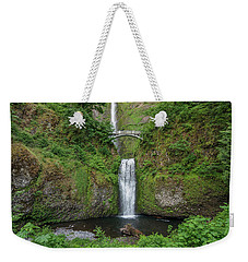 Weekender Tote Bag featuring the photograph Multnomah Falls In Spring by Greg Nyquist