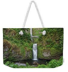 Multnomah Falls In Spring Weekender Tote Bag by Greg Nyquist
