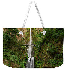 Weekender Tote Bag featuring the photograph Multnomah Falls by John Hight