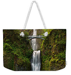 Multnomah Falls Weekender Tote Bag by Mary Jo Allen