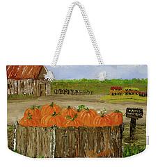 Mum And Pumpkin Harvest Weekender Tote Bag