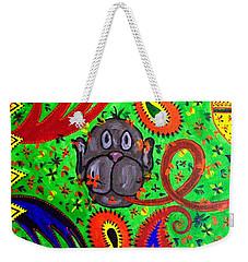 Mun Moji-hookah Monkey Weekender Tote Bag