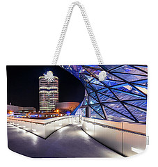 Weekender Tote Bag featuring the pyrography Munich - Bwm Modern And Futuristic by Hannes Cmarits