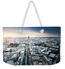 Munich - Sunrise At A Winter Day Weekender Tote Bag by Hannes Cmarits