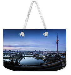 Munich - Watching The Sunset At The Olympiapark Weekender Tote Bag by Hannes Cmarits