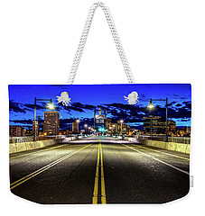Murray Morgam Bridge During Blue Hour In Hdr Weekender Tote Bag by Rob Green