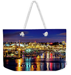 Murray Morgan Bridge View During Blue Hour In Hdr Weekender Tote Bag