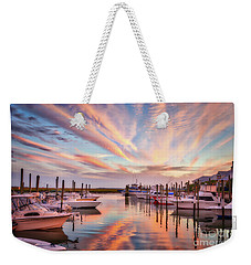 Weekender Tote Bag featuring the photograph Murrells Inlet Sunset 2 by Mel Steinhauer