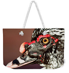 Weekender Tote Bag featuring the photograph Muscovy by Sue Collura
