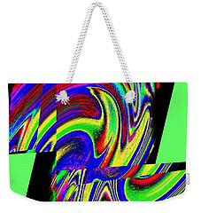 Weekender Tote Bag featuring the digital art Muse 46 by Will Borden