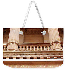 Weekender Tote Bag featuring the photograph Museum And Art Gallery Entrance by Baggieoldboy